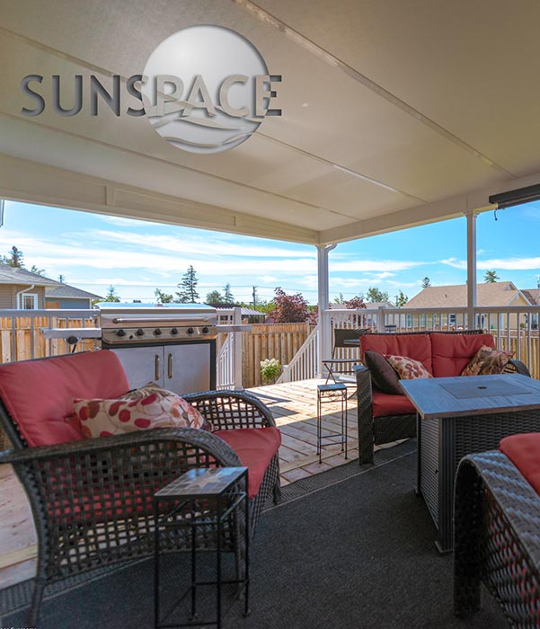 Sunspace patio cover over existing deck.