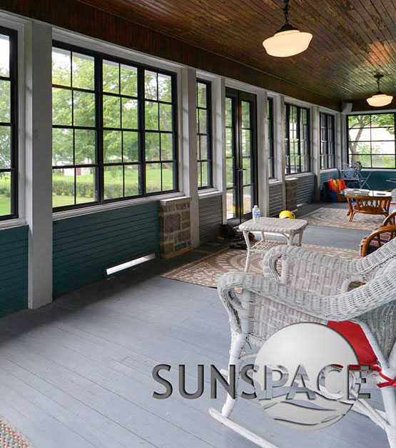 A Sunspace Sunroom with Weathermaster windows.